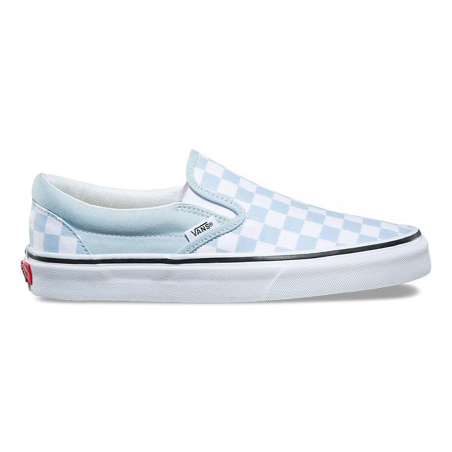 Vans női cipő Classic Slip On (Checkerboard) Baby BlueTrue White Coreshop.hu