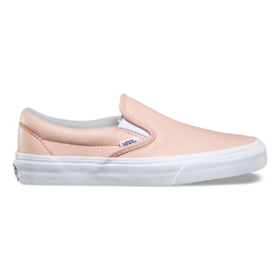 Vans női cipő - Classic Slip-On (Leather) Oxford Evening Sand ... 756af0859e