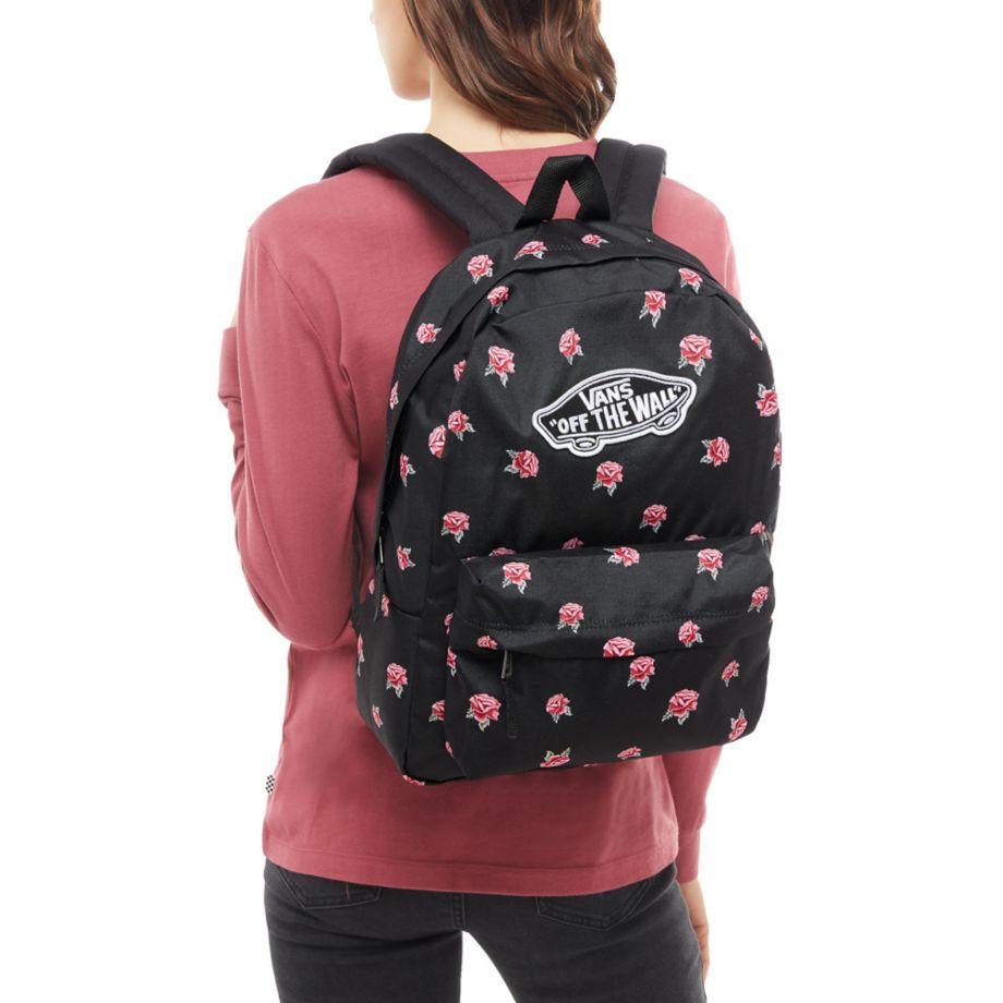 9cab371429 Vans Realm Backpack táska Black Rose - Coreshop