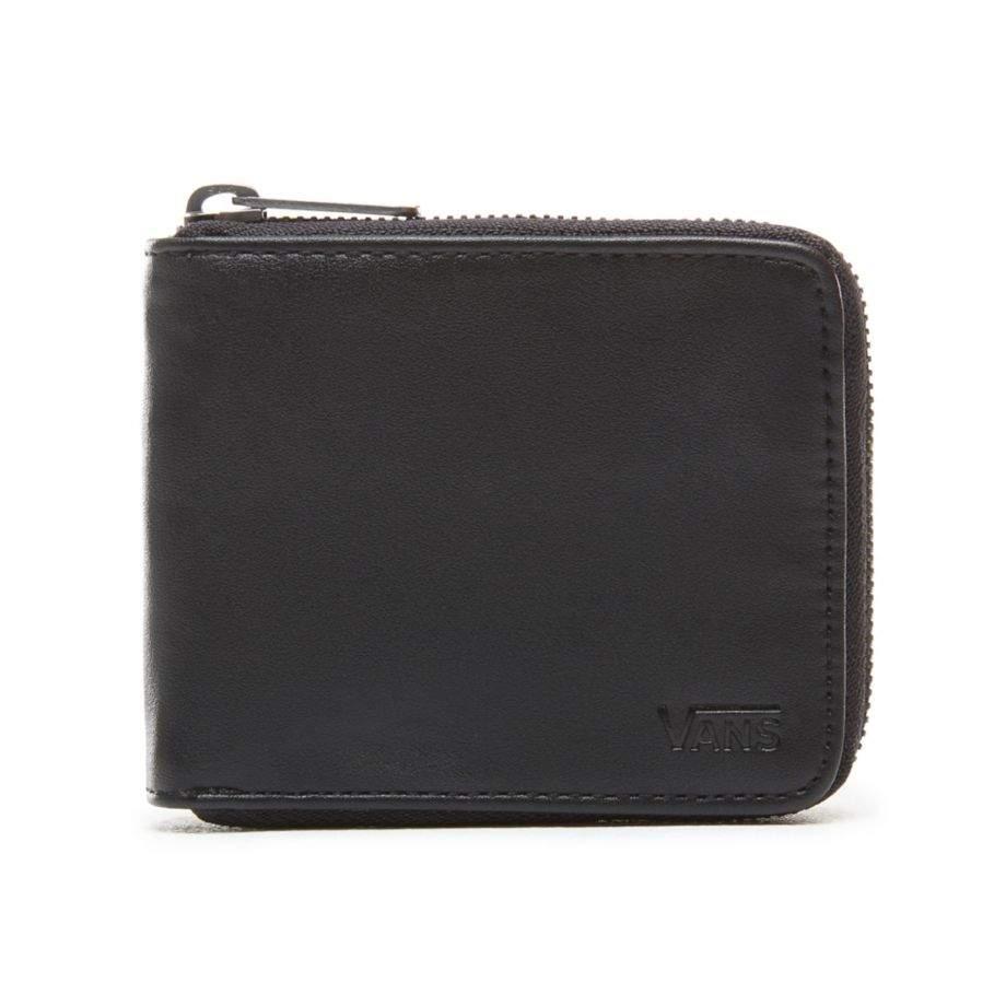 b616d0e01c5011 Vans pénztárca - Drop V Zip Wallet Black VA31JABLK- Coreshop.hu