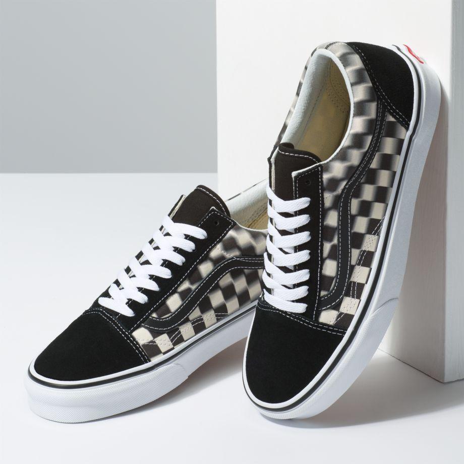 Vans Old Skool (Blur Check) BlackWhite férfi cipő